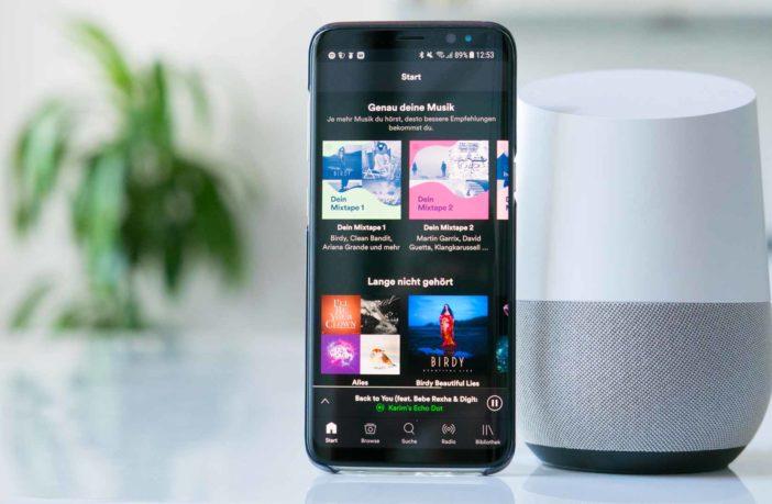 Spotify mit dem Google Home hören