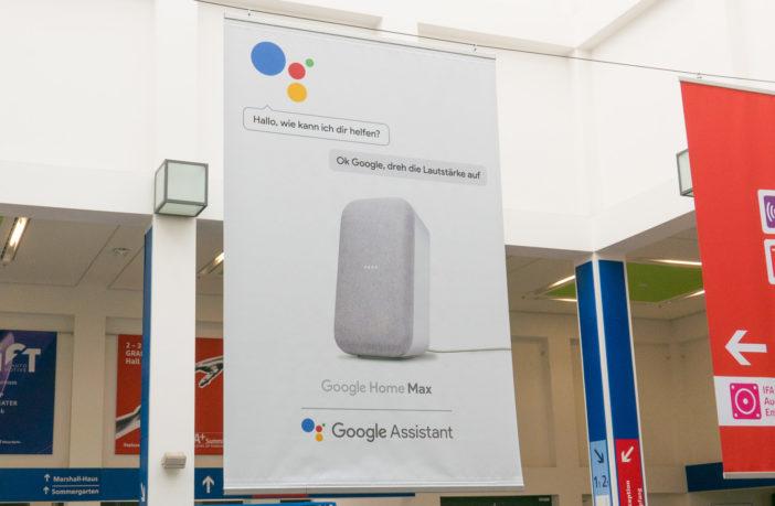Google Home Max auf der IFA 2018