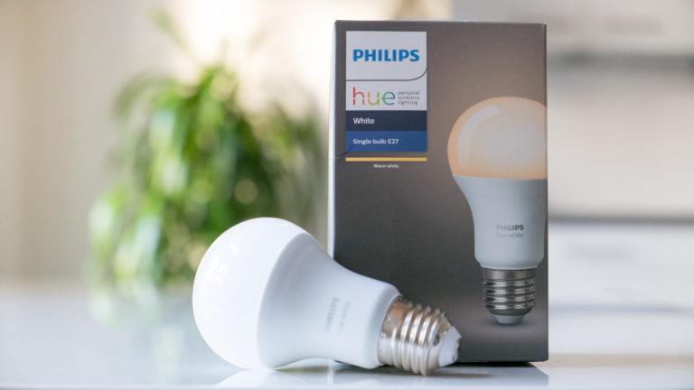 Gratis Philips Hue E27 White Lampe