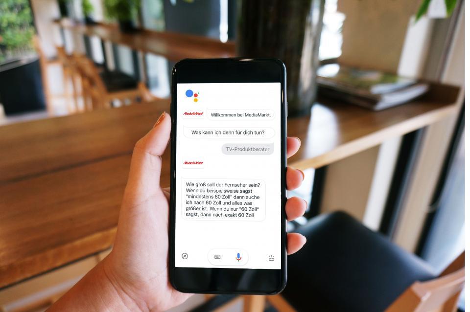 Mit dem Google Assistant bei Media Markt den passenden TV finden