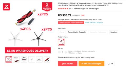 Roborock S6 Ersatzteile für 34,03€