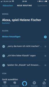 Alexa Routine - Antworten verändern