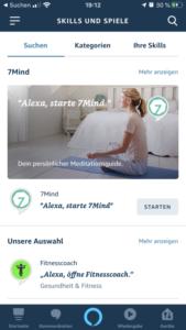 Alexa Skill starten mit Link 7Mind