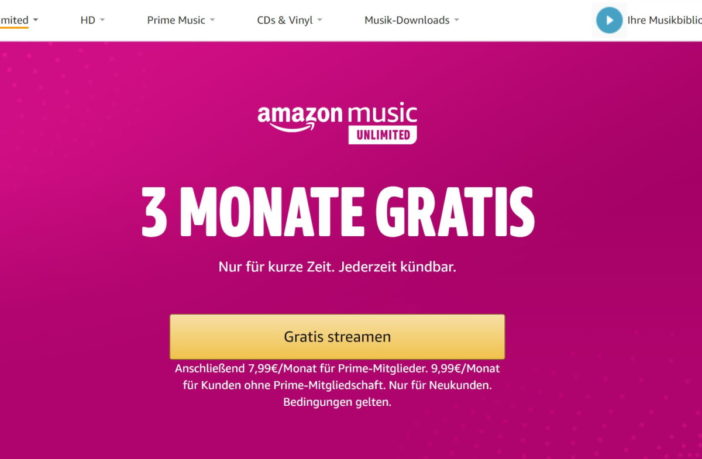 Music Unlimited 3 Monate gratis