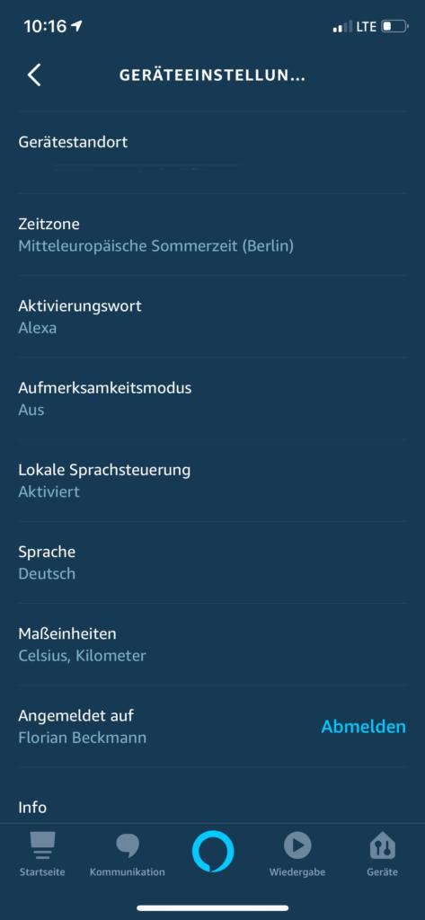Alexa lokale Sprachsteuerung