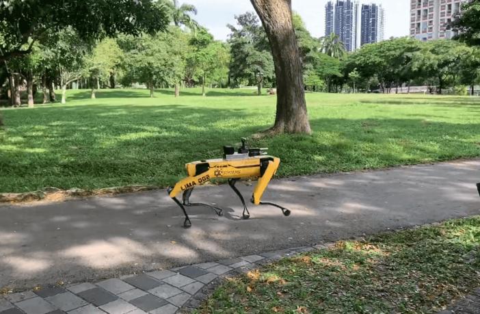 Roboterhund in Singapur