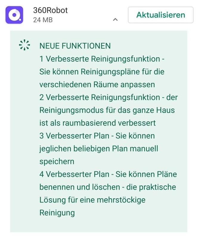 360Robor App Update