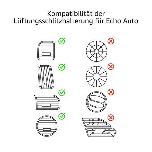 Mit Echo Auto kompatible Lüftungsschlitze