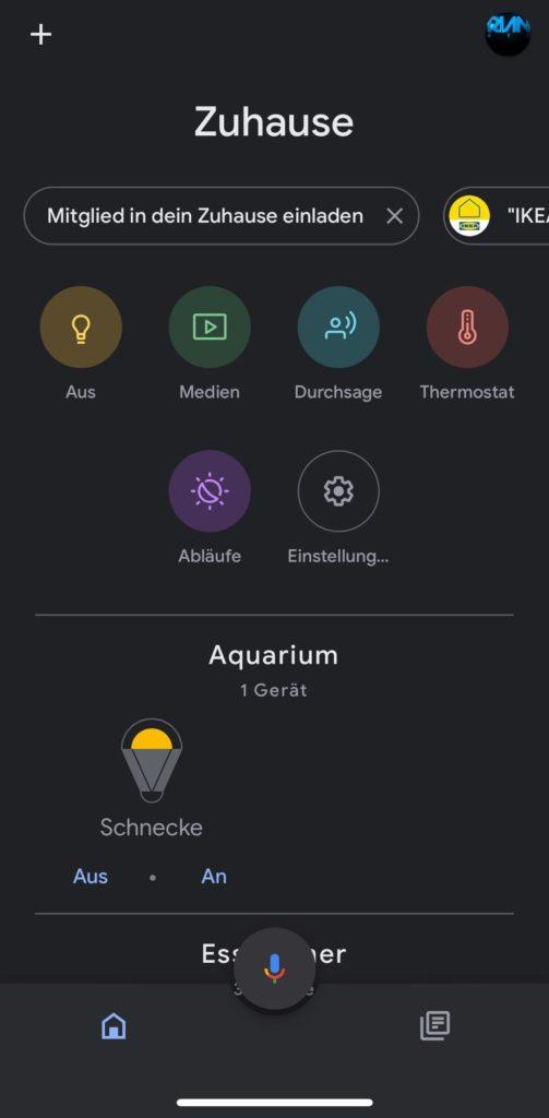 Google Home App Dark Mode