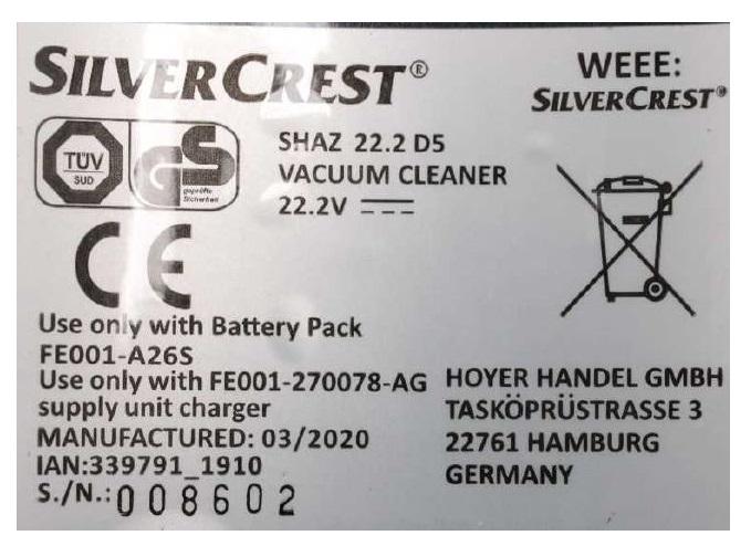 Silvercrest Akku-Sauger Rückrufaktion