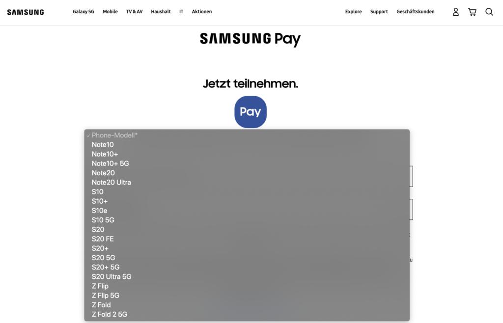 Samsung Pay startet in Deutschland