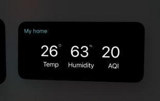 Xiaomi Home iOS Widget
