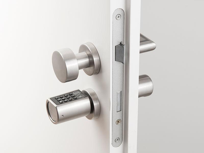 VisorTech Codeschloss: Elektronischer Tür-Schließzylinder mit Zahlencode