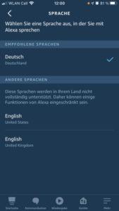Alexa mehrsprachig Echo Show 3 Sprachen