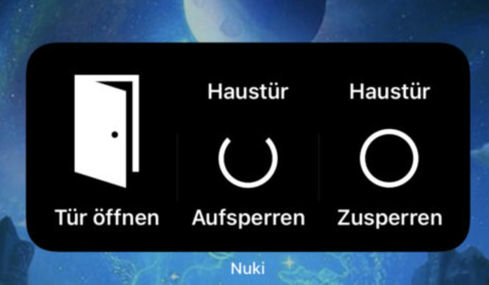 Nuki iOS 14 Widget
