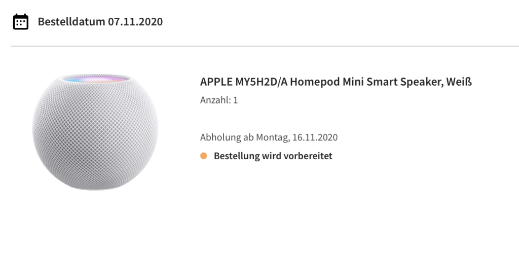 HomePod mini MediaMarkt