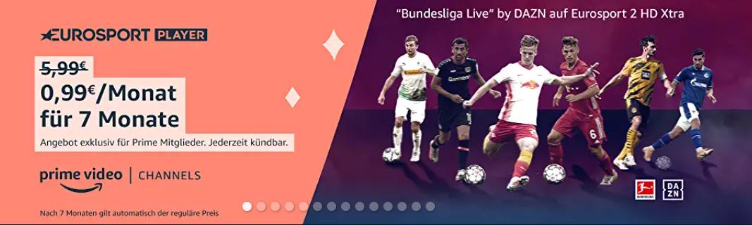 Bild zum Angebot des Eurosportplayer2HD Xtra für 99 Cent