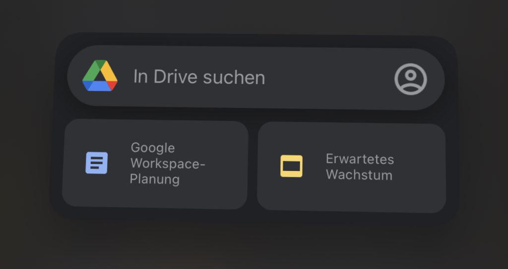 Google Drive iOS Widget