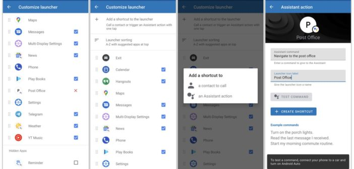 Android Auto Assistant Actions