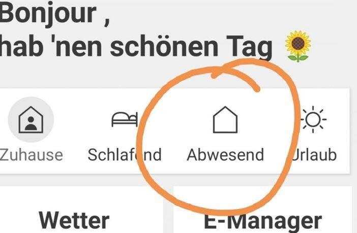 Screenshot Homee App