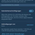 Alexa Apple Kalender Schritt 5 Kalenderbenachrichtigungen aktiviert
