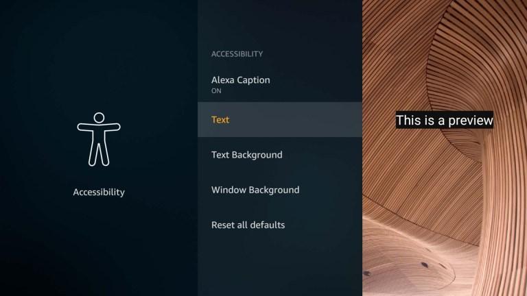 Alexa Untertitel Einstellungen FireTV