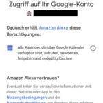 Alexa Google Kalender Schritt 2
