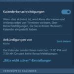 Alexa Microsoft Kalender Schritt 5 Kalenderbenachrichtigungen aktiviert