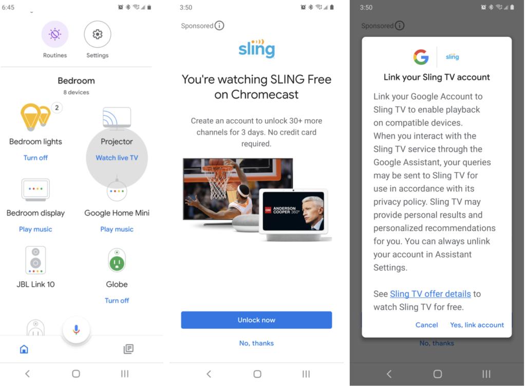 Google Home App Werbung