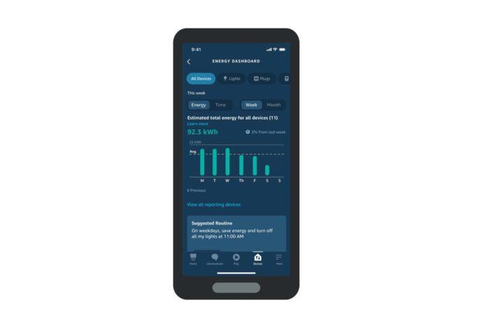 Alexa Energie Dashboard