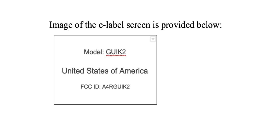 Google GUIK2 FCC