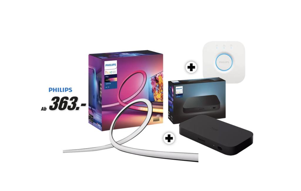 Philips Hue – Play Gradient Lightstrip Bundles mit Sync-Box und Bridge im Angebot