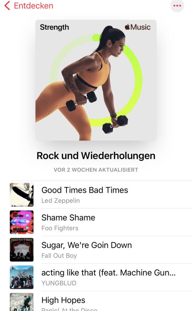 Apple Fitness+ Playlist