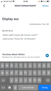 Alexa, Display ausschalten