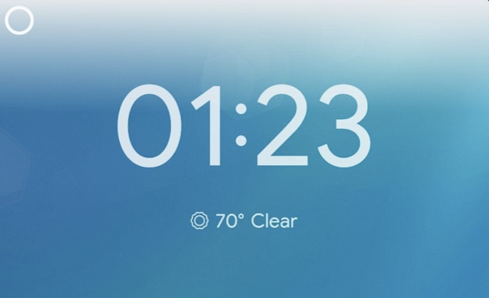 Google Home Uhrendesigns