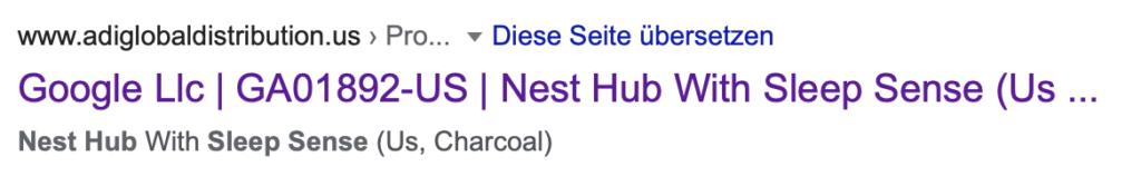 Google Nest Hub 2 Sleep Sense