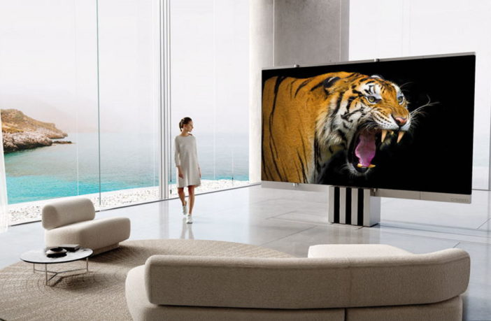 C Seed M1 - 165 Zoll Faltbarer TV