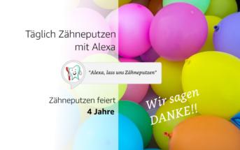 Alexa Skill Zähneputzen 4 Jahre