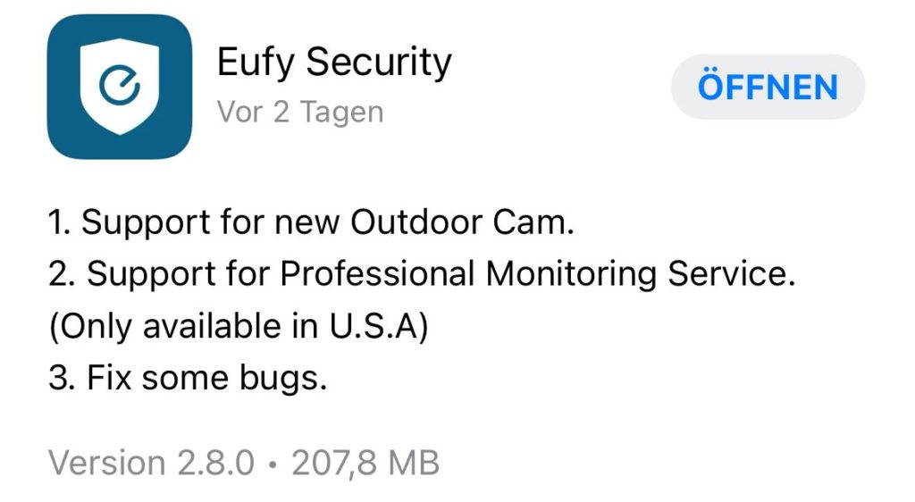 eufy App Update