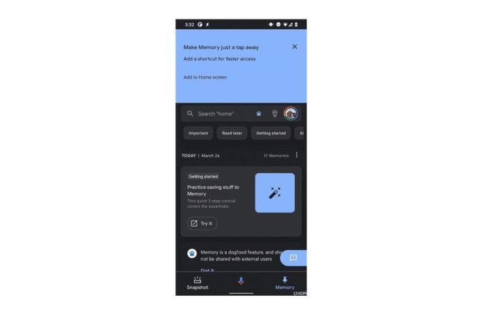 Google Assistant Memory