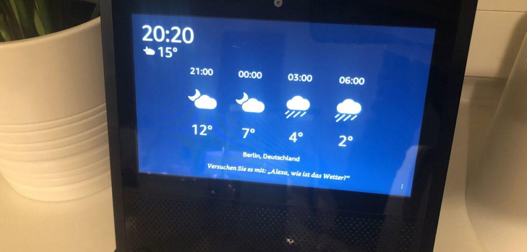 Echo Show Wetter und Uhr
