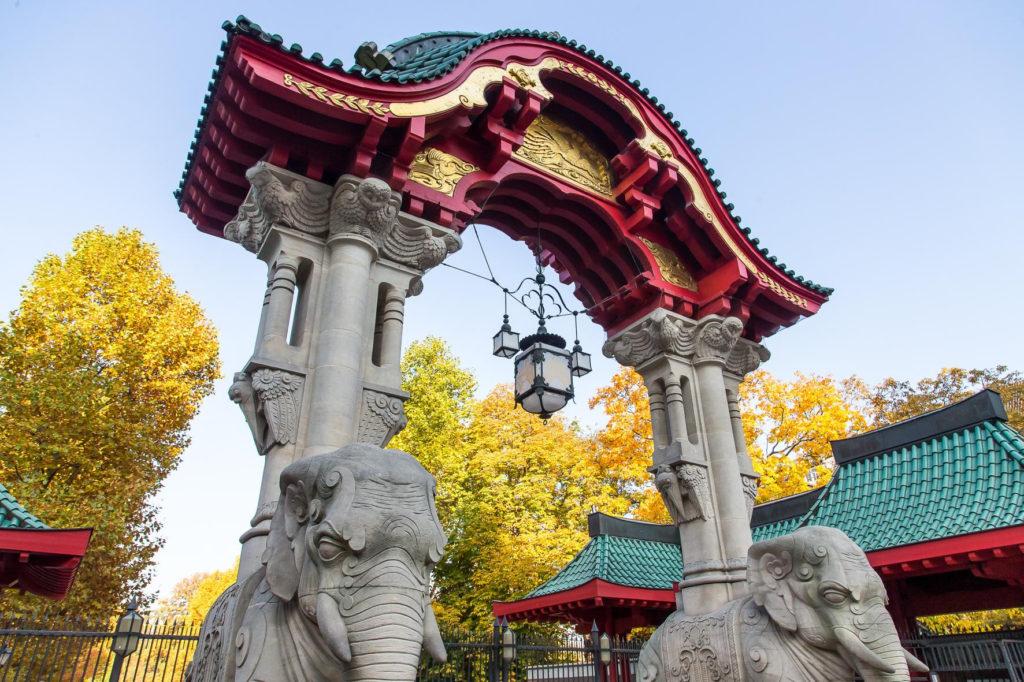 Elefantentor im Herbst_Zoo Berlin