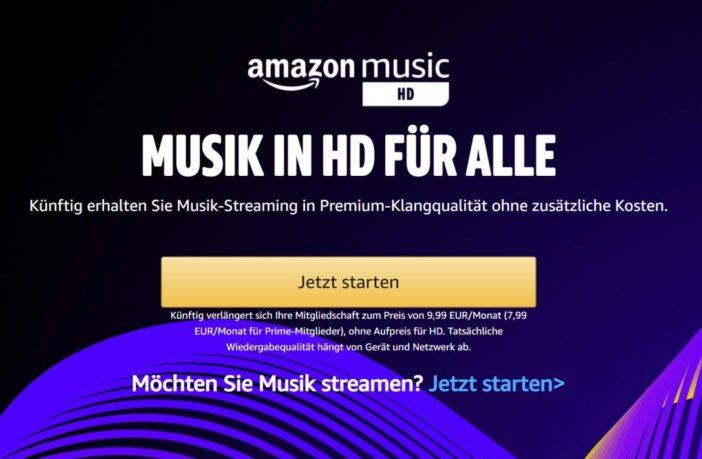 Amazon Music HD kostenlos für Unlimited Kunden