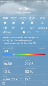 Air quality Apple Weather App