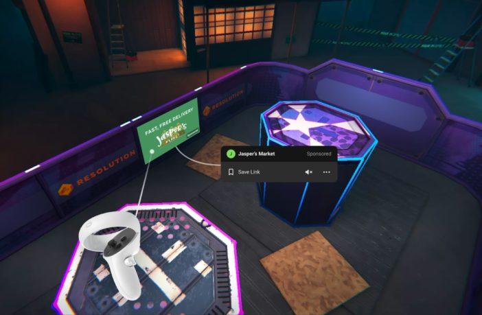 Oculus Quest In-App-Werbung