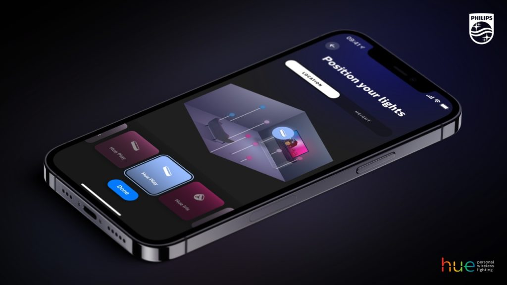 Philips Hue App 4.0 - Entertainment-Setup